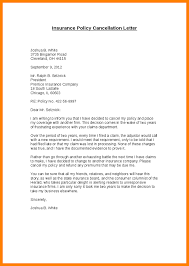 Cancellation Of Insurance Policy Sample Letter 12 El Parga