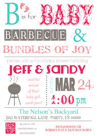 BaBy Q shower invitation. Great for a couples shower!