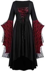 Buy PSFS <b>Halloween</b> Women Ladies Plus Size <b>Skull Lace</b> Bell ...