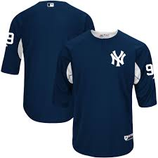 Men's New York Yankees Aaron Judge Majestic Fashion Navy Authentic On-Field  Cool Base Batting
