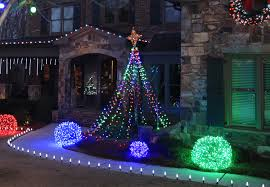 christmas outdoor lighting ideas. Make A DIY Christmas Light Tree For The Yard Using String Lights And Basketball Pole Outdoor Lighting Ideas L