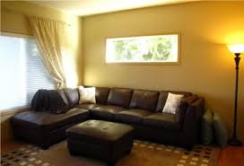 yellow living room walls large living room with black leather sofa bed and yellow wall