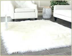 faux fur carpet white faux fur carpet white faux fur area rug mosaic found clean at
