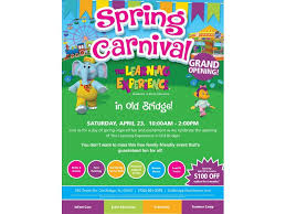 Grand Opening Flyer Enchanting Spring Carnival To Celebrate Grand Opening Of The Learning
