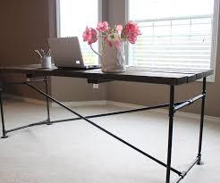 industrial pipe desk diy industrial pipe desk