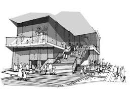 architecture sketches. green architecture design of gimpo art hall by gansam partners sketches