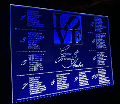 Led Blue Wedding Seating Chart Alphabetical Table Plan