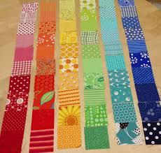 Rainbow Scrap Strip Quilt Tutorial | Strip quilts, Quilt tutorials ... & How to make a patchwork quilt. Rainbow Scrap Strip Quilt Tutorial - Step 2 Adamdwight.com