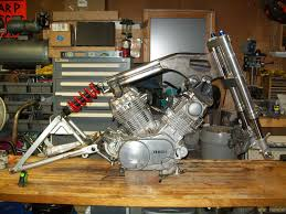 1982 virago 920 engine up build i wanted to make the rear shock locate correctly out a complicated jig so this is what i came up