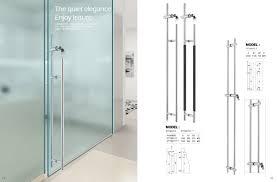 solid glass door handle hot ss stainless steel glass door handle with lock pull