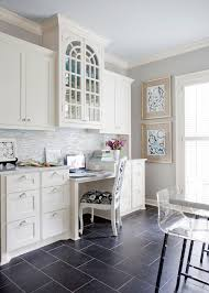 dark tile floor kitchen. impressive emser tile in home office traditional with kitchen next to craft table alongside dark floor o