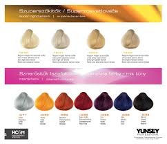 Yunsey Color Chart Yunsey Hair Color Super Lighteners Intensifiers Ekkor