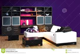 Purple Decorating Living Rooms Purple Living Room Stock Image Image 8908521