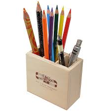 ... Koh-I-Noor 3 Slot Wooden Pen Pot