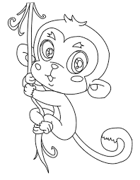 Coloring Cute Monkey Coloring Pages Cute Baby Monkey Coloring Pages