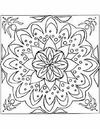 Kleurennu Mandala Mooi Patroon Kleurplaten
