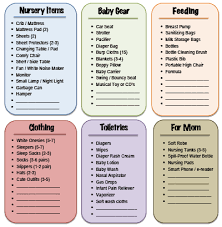list of items needed for baby raising an infant on a budget recap free printable andrea dekker
