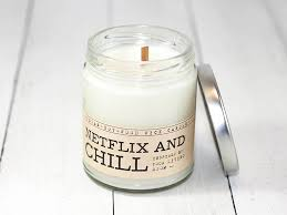 chill wood wick candle