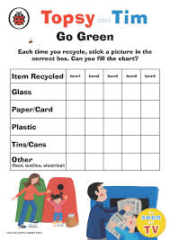 Topsy And Tim Go Green Each Time You Recycle Stick A