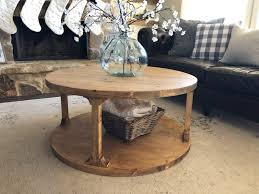 Here's our pallet coffee table and benches tutorial! Diy Round Coffee Table Shanty 2 Chic