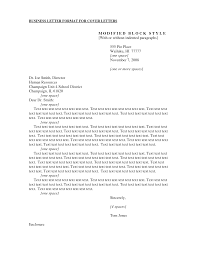 Cover Letter Business Cover Letter Format Business Cover Letter