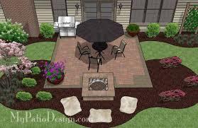 square patio designs. Brilliant Square DIY Square Patio Design With Fire Pit 2 On Designs A