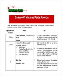 Party Agenda Sample 17 Party Agenda Examples Examples