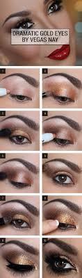 dramatic gold eye makeup guide