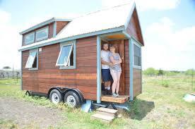 tiny house austin tx. Eddie And Lacey Outside Their Home Tiny House Austin Tx