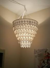 Hanging Basket Light Fixture Diy Pipe Floor Lamp Venise Lace Faux