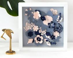 spring flowers papercut spring decor flowers for wall paper flowers art 3d flowers shadow box flowers wall art navy blush flowers  on 3d paper cut wall art with flower art paper cut art white flower paper cut floral