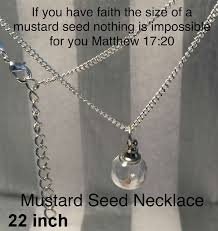 mustard seed necklaces jewelry