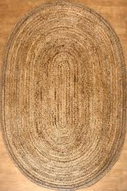 cozy oval jute rug for your residence idea
