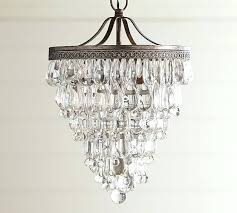crystal drop small round chandelier pottery barn glass crystals replacement