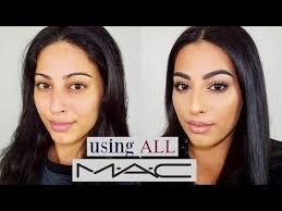 all m a c cosmetics makeup tutorial one brand tutorial