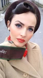 lovely 1940s fashion 1940s inspired fashion 1950 makeup 1950s hair and makeup