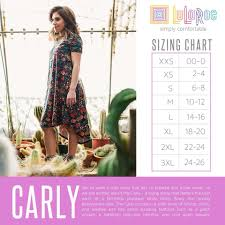 Size Chart Lularoe Sizing For Carly Dress Size Down One Or Two Sizes