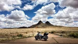 Wallpaper 4k motorcycle, mountains ...