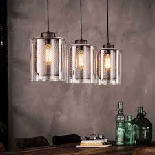 Esstisch Pendelleuchte Achrias Im Loft Style Aus Metall Und Glas
