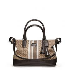 Lyst - Coach Legacy Signature Stripe Molly Satchel in Brown