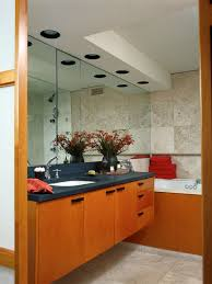 bathroom lighting houzz. contemporary bathroom idea in chicago with flatpanel cabinets and medium tone wood lighting houzz e