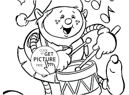 Christmas Elves Coloring Pages Elf Page Funny For Kids Printable