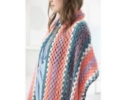 Lion Brand Mandala Yarn Patterns Delectable Fringed Shawl Crochet Lion Brand Yarn