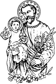 Beautiful Saint Joseph And Child Coloring Page Saints Andl L