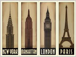 famous architecture buildings. 4 Panels World\u0027s Famous Architecture Buildings Decorative Hanging Paintings Frameless Canvas