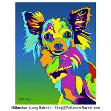 gifts for pet lovers. Dog Portraits: Chihuahua Art And Gifts. Paintings Portraits By Michael Gifts For Pet Lovers