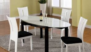 timber oak all white six and round table room gloss scenic black dining hygena solid leather