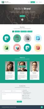 Single Page Website Design Template Free Flat Style Single Page Website Design Template Psd