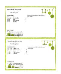 Index Card Recipe Template Word Recipe Template 6 Free Word Documents Download