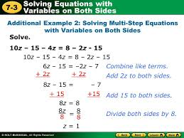 15 solving equations